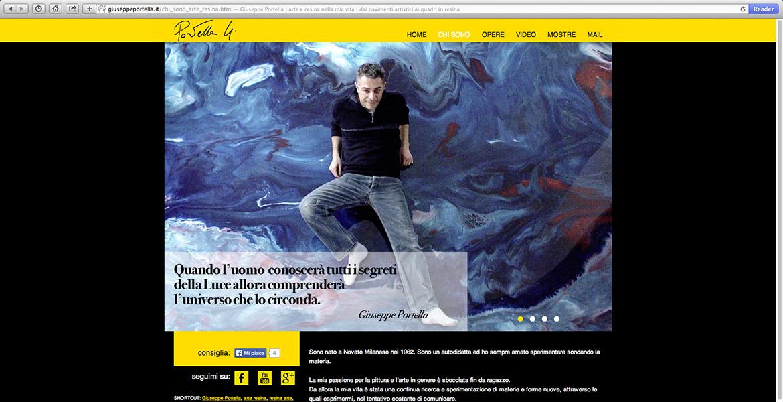 sito internet di Giuseppe Portella pagina chi sono
