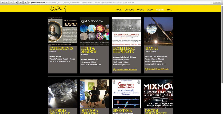 sito internet di Giuseppe Portella pagina mostre
