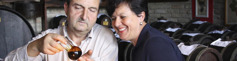 foto Sandra e Luciano in acetaia